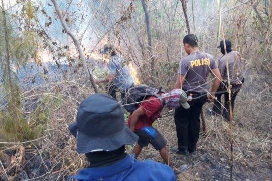 Polisi selidiki penyebab kebakaran hutan di Gunung Guntur