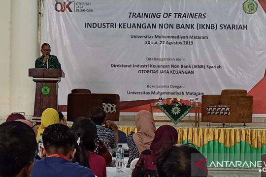 OJK latih dosen NTB tentang industri keuangan nonbank syariah