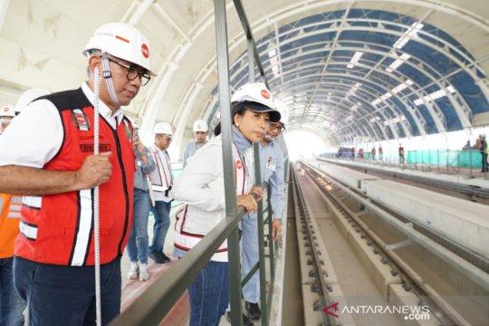 Rini: LRT Cawang-Cibubur komersil akhir Oktober