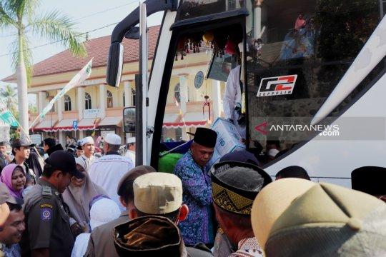 Kloter 5 jamaah haji Ogan Komering Ulu tiba di kampung halaman