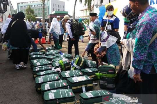 339 haji kloter 9 Lampung tiba di asrama haji