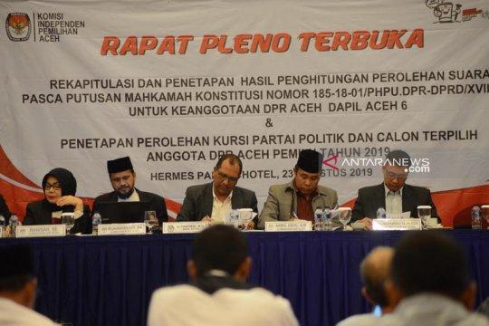 KIP Aceh tetapkan 81 anggota DPR Aceh produk Pemilu 2019