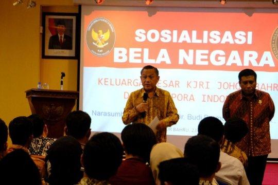 Wantannas sosialisasi Bela Negara di KJRI Johor Bahru