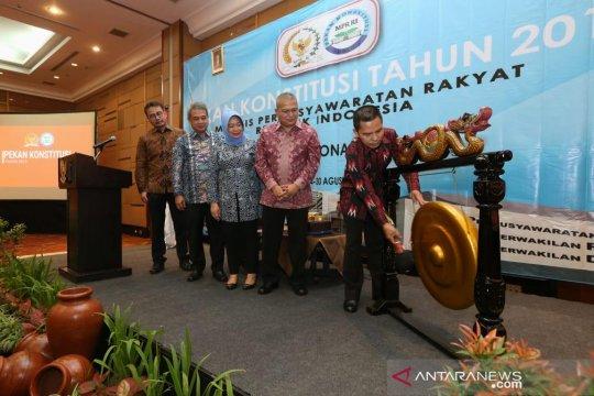 Pekan Konstitusi MPR untuk tumbuhkan kesadaran berkonstitusi