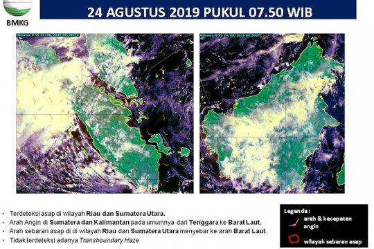 """584 titik panas indikasi Karhutla """"kepung"""" Sumatera"""