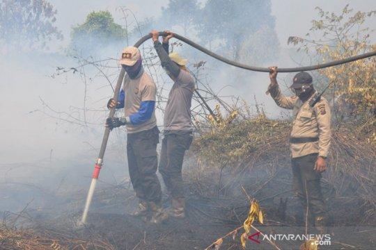 Karhutla Riau meluas, Kapolres Pelalawan menginap di lokasi kebakaran