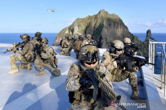 Korsel latihan militer di pulau sengketa dengan Jepang