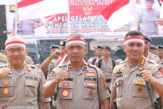 Polda Sumsel gelar pasukan Brimob untuk Indonesia