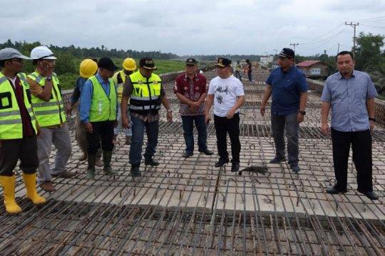 Gubernur Kalteng cek jalan layang Pangkalan Bun - Kotawaringin Lama