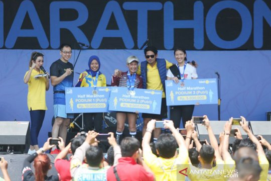 Carla Felany harus puas di posisi dua Kudus Relay Marathon 2019