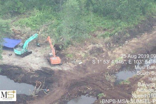 Luas lahan terbakar di Sumatera Selatan capai 1.675 hektare