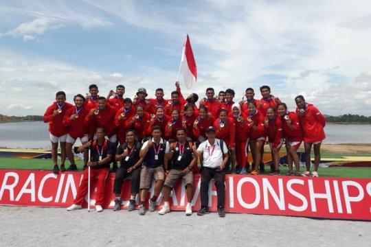 Indonesia bawa tujuh medali dari kejuaraan dunia perahu naga