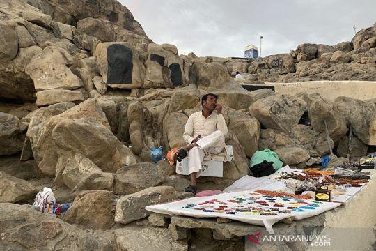 Pedagang di Jabal Rahmah