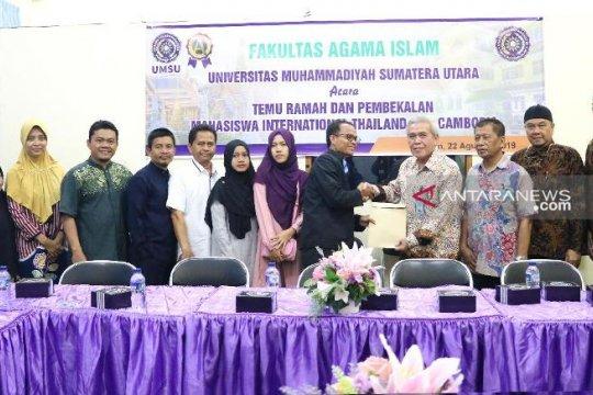 Sembilan mahasiswa Thailand dan Kamboja kuliah di UMSU