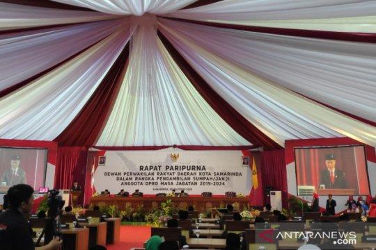Calon terpilih anggota DPRD Samarinda dilantik sebagai wakil rakyat