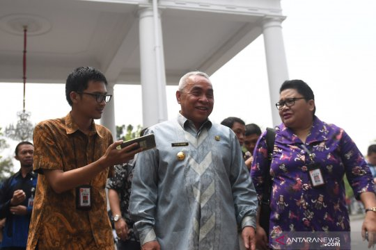 Gubernur Kaltim Isran Noor tiba di Komplek Istana Kepresidenan jelang pengumuman pemindahan ibu kota negara