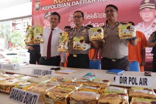 Polda Kepri amankan 30,8 Kg sabu dari Malaysia