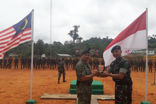 Patroli patok terkoordinasi ajang silaturahmi prajurit RI-Malaysia