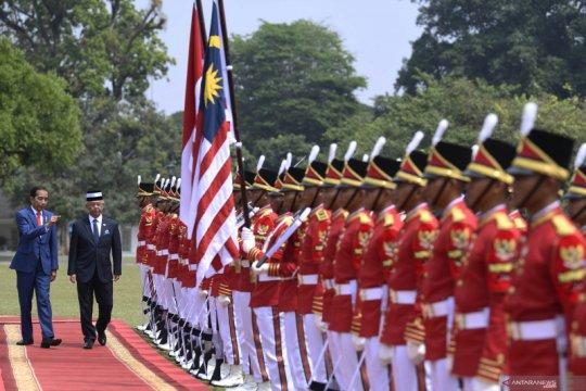 Jokowi sambut kedatangan Raja Malaysia di Istana Bogor