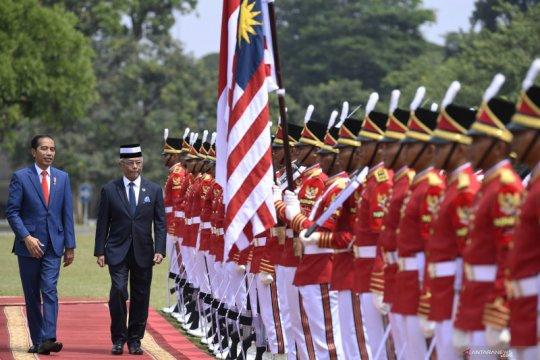 Jokowi-Raja Malaysia bahas sawit hingga kolaborasi Pertamina-Petronas