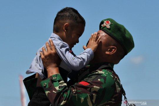 Kepulangan prajurit TNI AD Pamtas RI-PNG