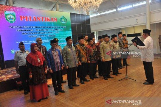 Jamaah Kloter sepuluh embarkasi Palembang pulang dengan selamat
