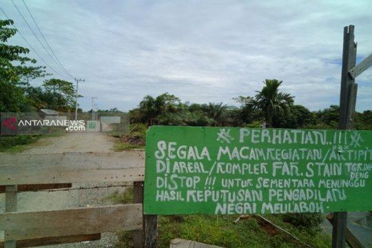 Aksi pemblokiran akses masuk ke kampus baru STAIN Meulaboh berlanjut