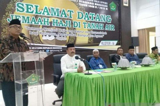 Jamaah kloter 14 Makassar pulang tak utuh, ada yang wafat dan sakit