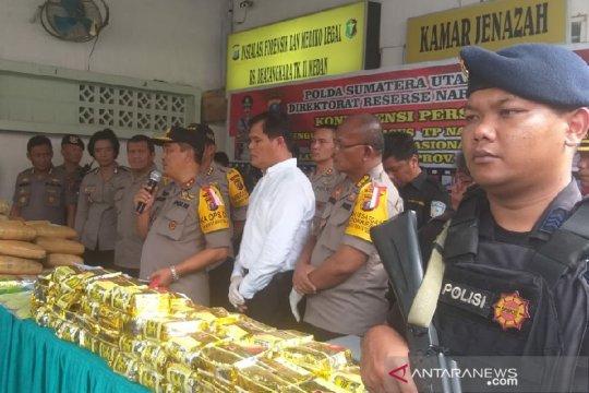 Polda Sumut ungkap sindikat narkoba internasional Malaysia