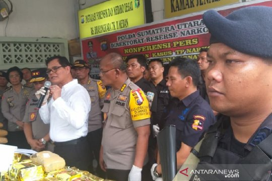 Polda Sumut amankan peredaran ganja jaringan Aceh