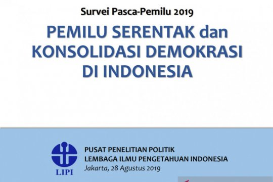Survei LIPI: Pemilu Serentak 2019 masih jauh dari harapan