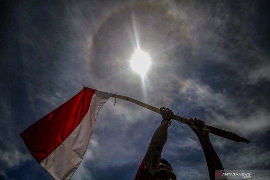Fenomena halo di langit kota Lhokseumawe