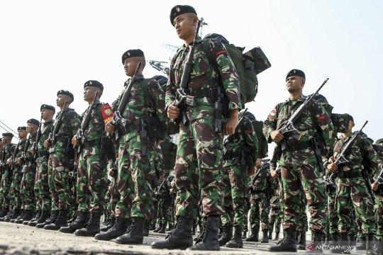 Pelepasan satgas pamtas RI-RDTL di Palembang