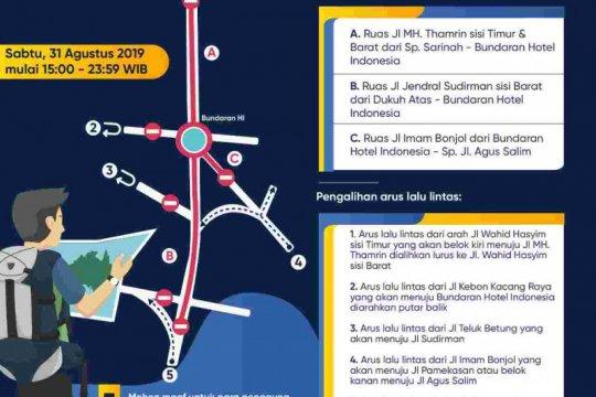Pemprov DKI Jakarta imbau warga gunakan transportasi umum untuk ke HI