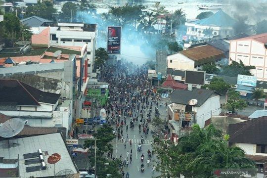 Aksi unjuk rasa di Jayapura