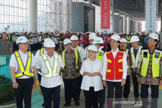 Presiden Jokowi tinjau Bandara Internasional Yogyakarta