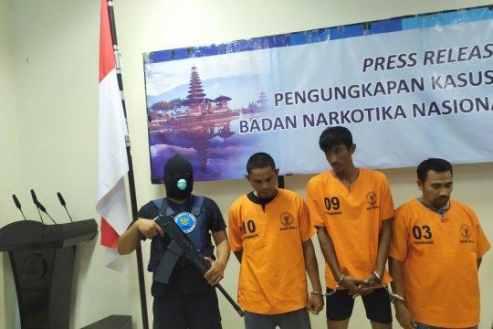 Tiga kurir sabu-sabu Jaringan Aceh ditangkap BNNP Bali