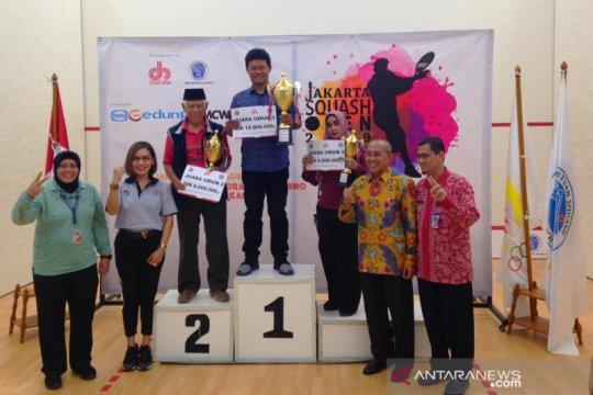 DKI Jakarta juara umum kejuaraan Jakarta Squash Open 2019