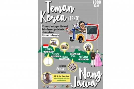 """""""TeKo Nang Jawa"""", tur promosi budaya Korsel lewat jalur darat"""