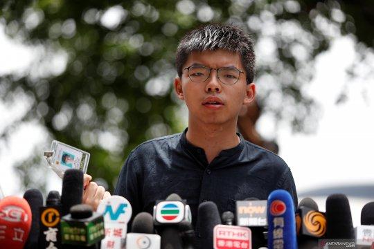 Aktivis demokrasi Hong Kong Joshua Wong ditangkap polisi