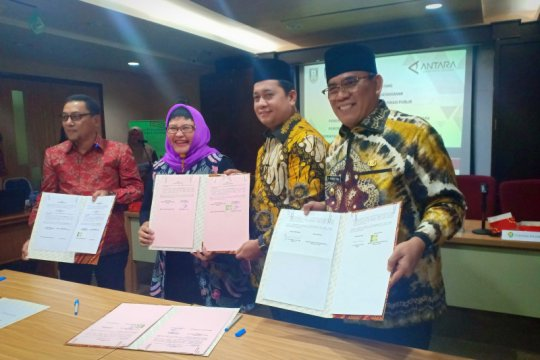 Tiga Kabupaten di Sumsel-Jambi MoU layanan digital mediaANTARA