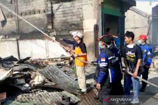 BPBD: Kebakaran di Pasar Topoyo hanguskan 117 kios