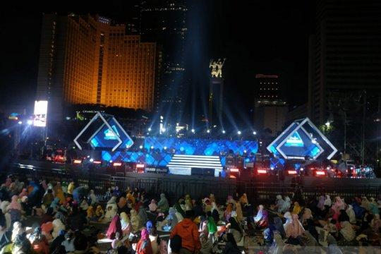 Bundaran HI mulai padat, jalan ditutup untuk Jakarta Muharram Festival