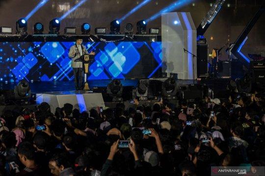 Anies unjuk kebolehan berpantun di Jakarta Muharram Festival