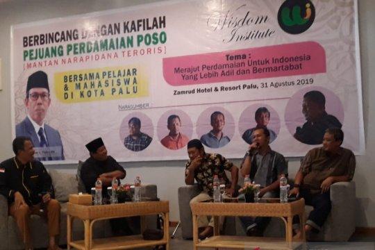 WI dampingi bekas napi teroris Poso jadi kafilah perdamaian Sulteng