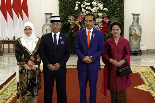 Presiden RI sambut kedatangan Raja Malaysia di Istana Bogor