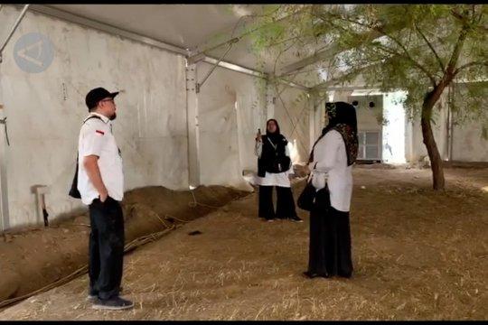 Pengerjaan instalasi dan fasilitas tenda wukuf dikebut