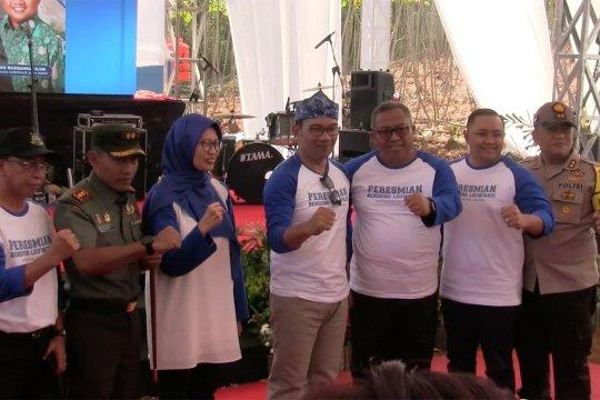 Gubernur Emil resmikan Bendung Irigasi Leuwisapi