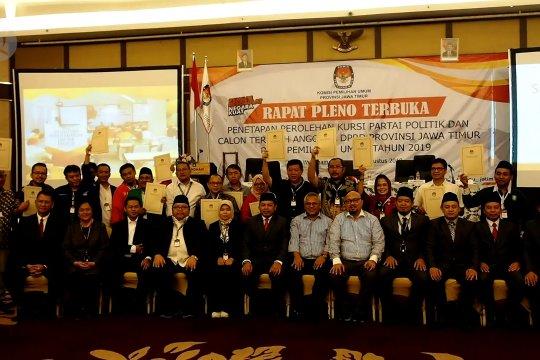 KPU tetapkan 120 calon terpilih legislator Jatim