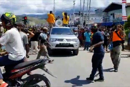 Demo tolak rasisme kembali terjadi di Jayapura